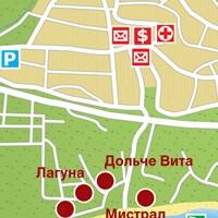 Карта курорта Св. Влас