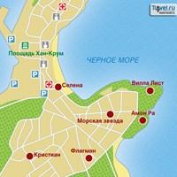 Карта курорта Созопол