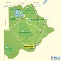 Карта Ботсваны