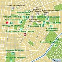 Карта Софии