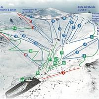 Схема трасс в Вальдески