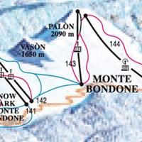 Карта курорта Монте-Бондоне