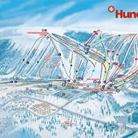 Схема курорта Хюндфьеллет (Селен)