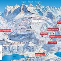 План железных дорог и горнолыжных трасс Юнгфрау