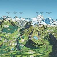 Карта курорта Энгельберг-Титлис летом