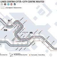 Венеция: карта маршрутов вапоретто