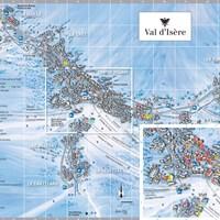 Карта Валь-д'Изера