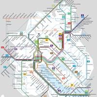 Схема городского транспорта в Цюрихе